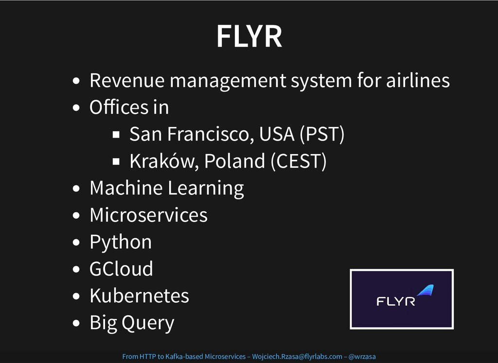FLYR FLYR Revenue management system for airline...