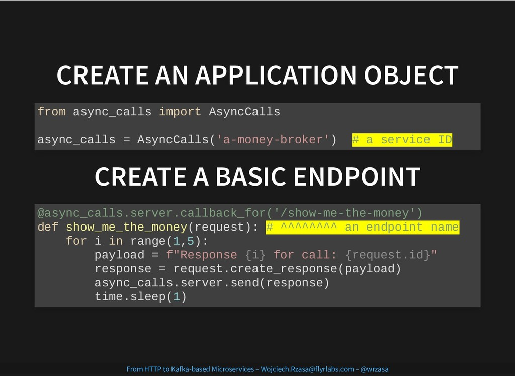 CREATE AN APPLICATION OBJECT CREATE AN APPLICAT...