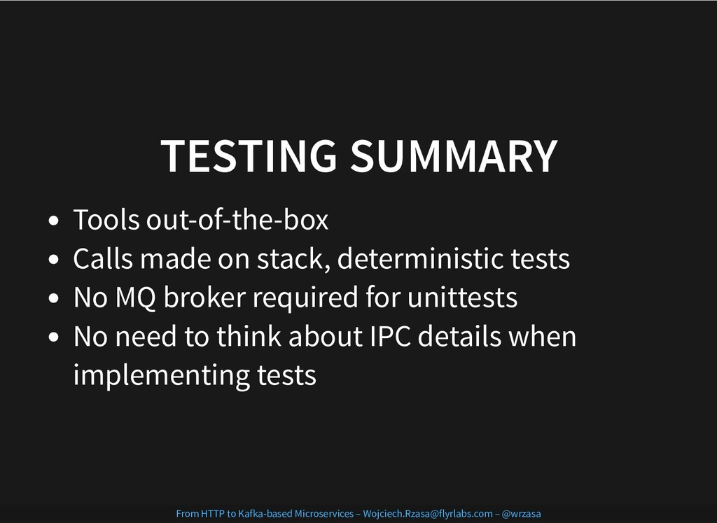 TESTING SUMMARY TESTING SUMMARY Tools out-of-th...