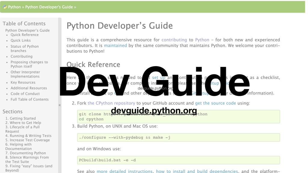 Dev Guide devguide.python.org devguide.python.o...