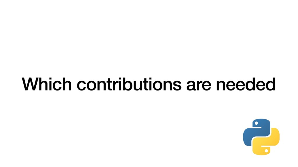 Which contributions are needed
