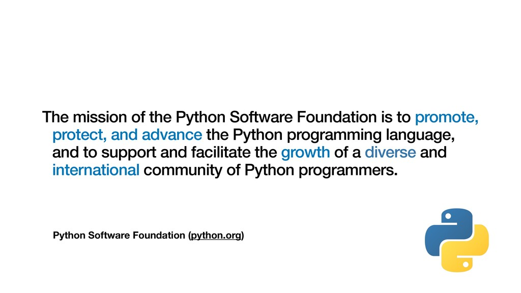 Python Software Foundation (python.org) The mis...
