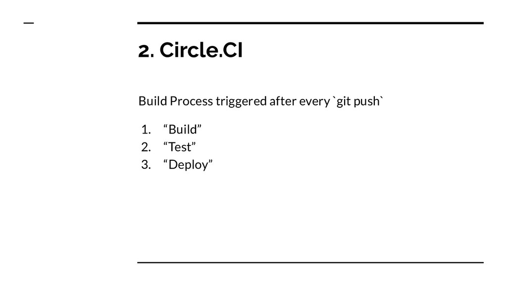 2. Circle.CI Build Process triggered after ever...
