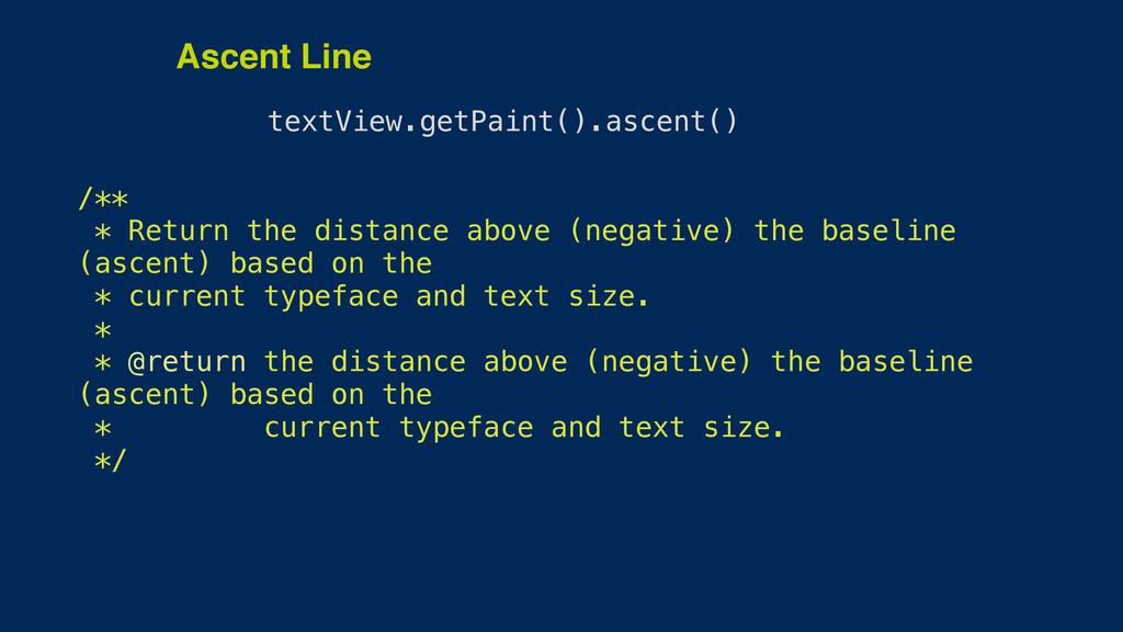 textView.getPaint().ascent() /** * Return the ...
