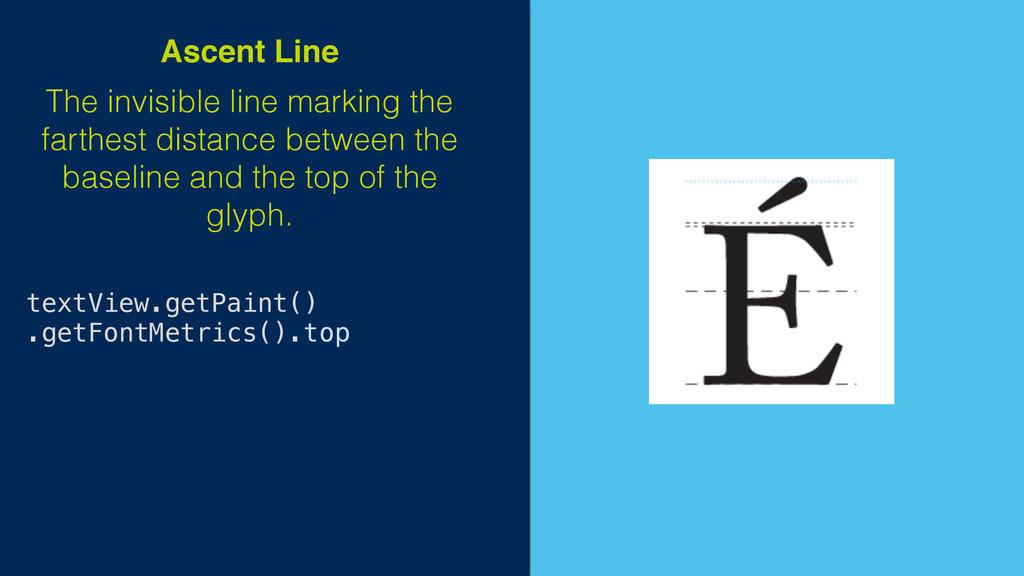 textView.getPaint() .getFontMetrics().top The i...