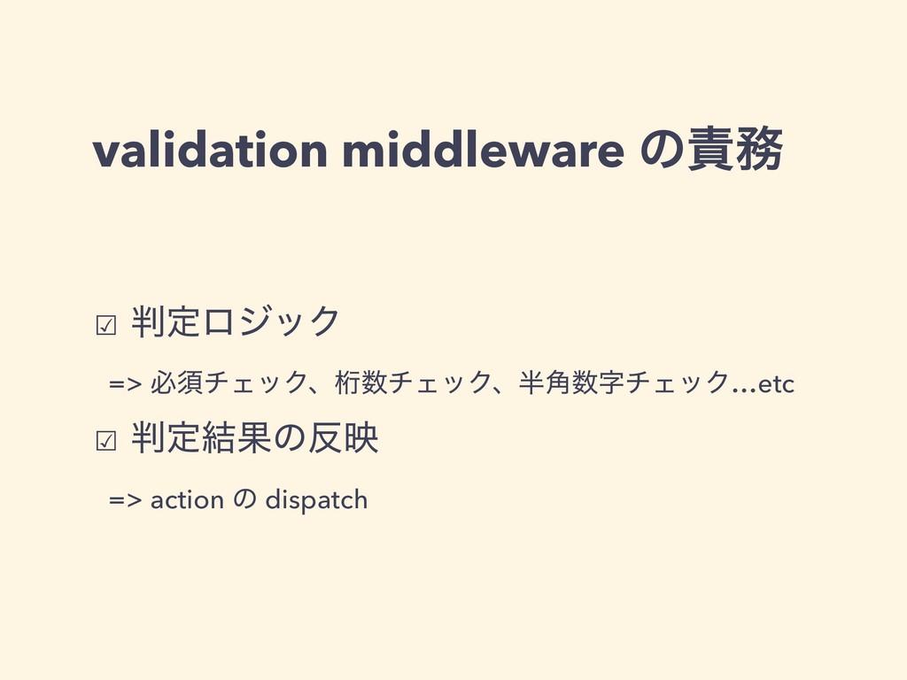 validation middleware ͷ ☑ ఆϩδοΫ => ඞਢνΣοΫɺܻ...