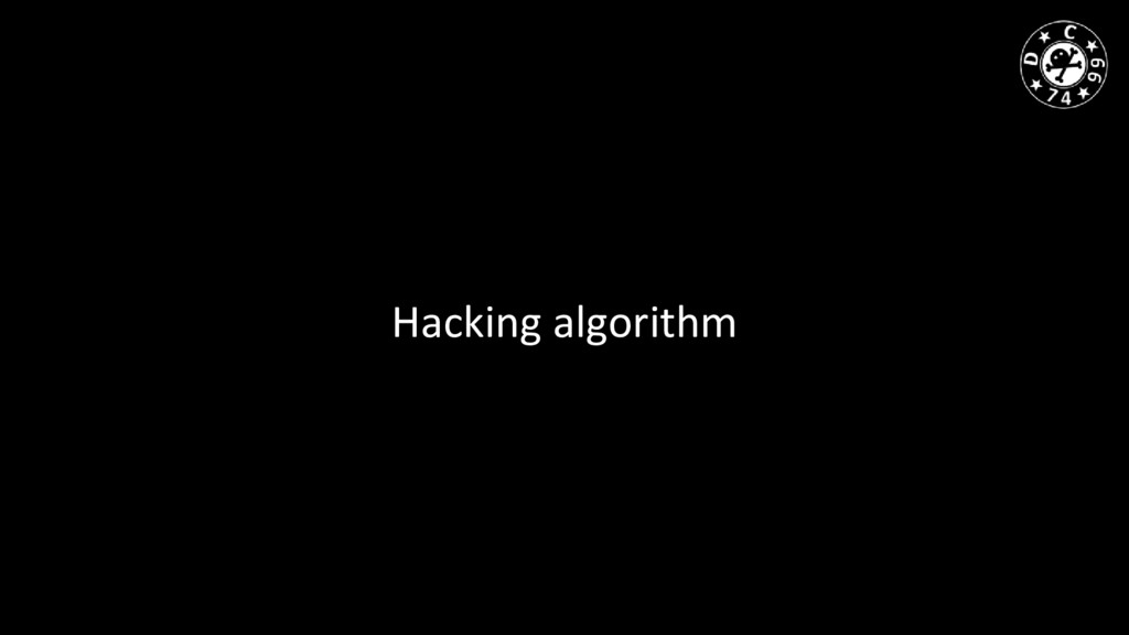 Hacking algorithm
