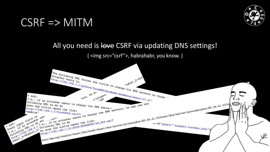 CSRF => MITM All you need is love CSRF via upda...