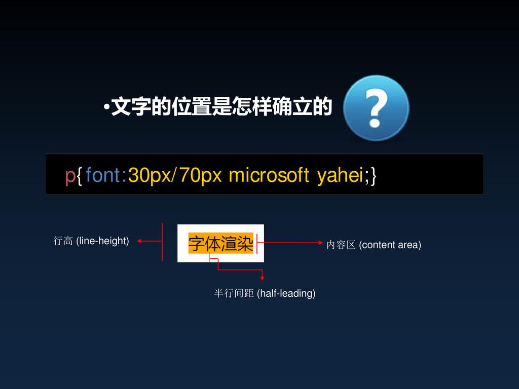 •文字的位置是怎样确立的 半行间距 (half-leading) 内容区 (content a...