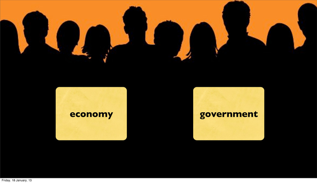 economy government Friday, 18 January, 13