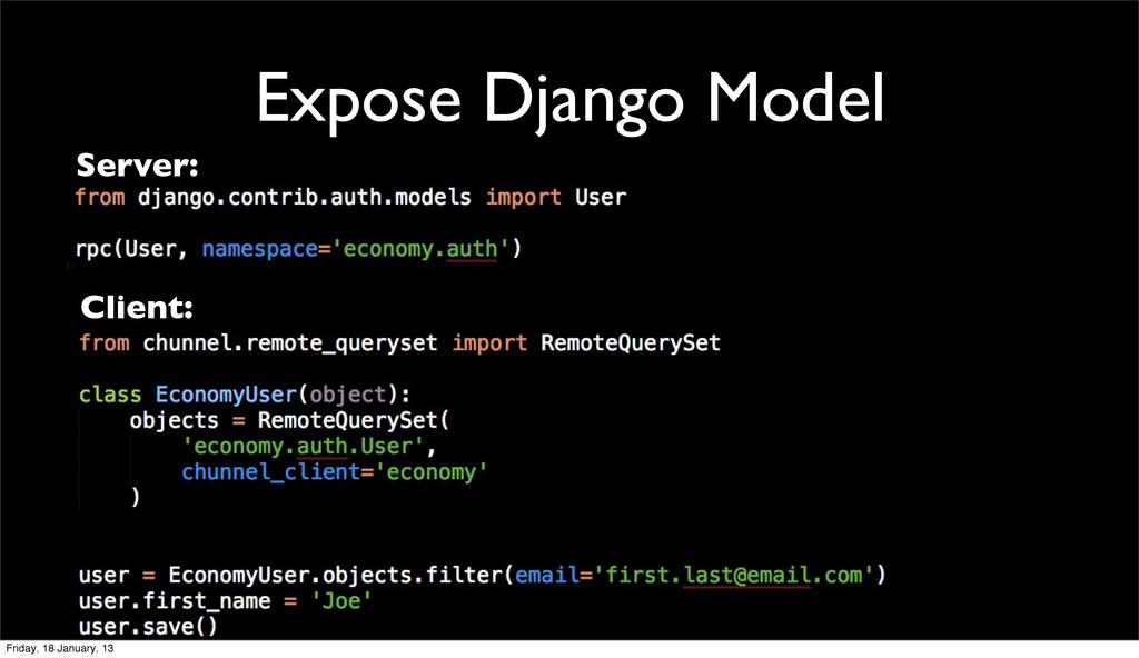 Expose Django Model Server: Client: Friday, 18 ...
