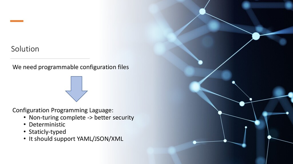 Solution We need programmable configuration fil...