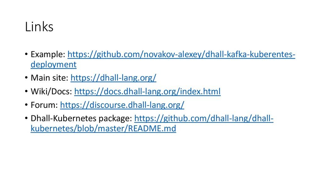 Links • Example: https://github.com/novakov-ale...
