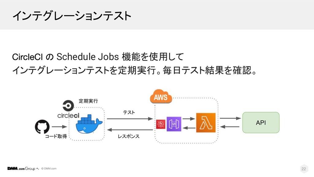 インテグレーションテスト の Schedule Jobs 機能を使用して インテグレーションテ...