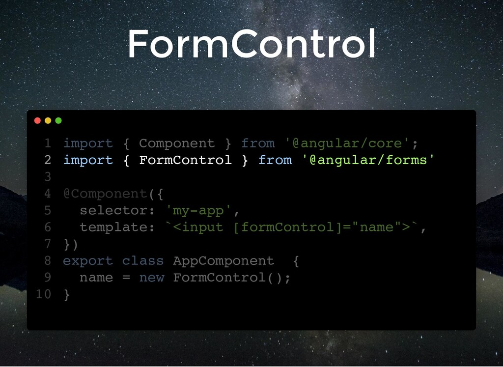 FormControl import { Component } from '@angular...