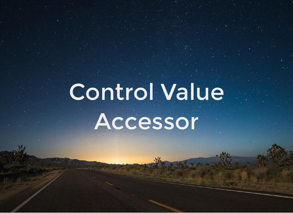 Control Value Accessor