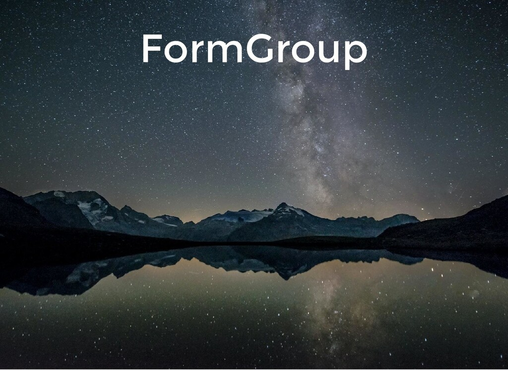 FormGroup