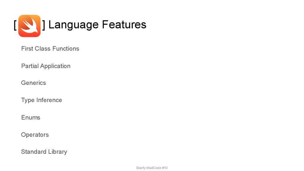 [ ] Language Features First Class Functions Par...