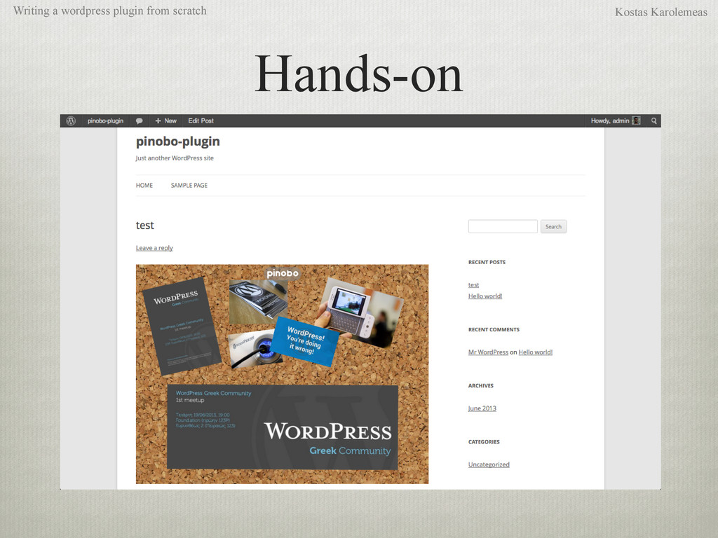 Hands-on Writing a wordpress plugin from scratc...