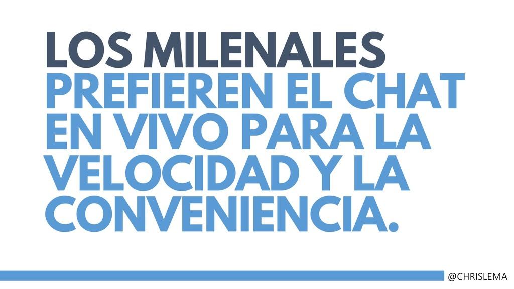 LOS MILENALES PREFIEREN EL CHAT EN VIVO PARA LA...