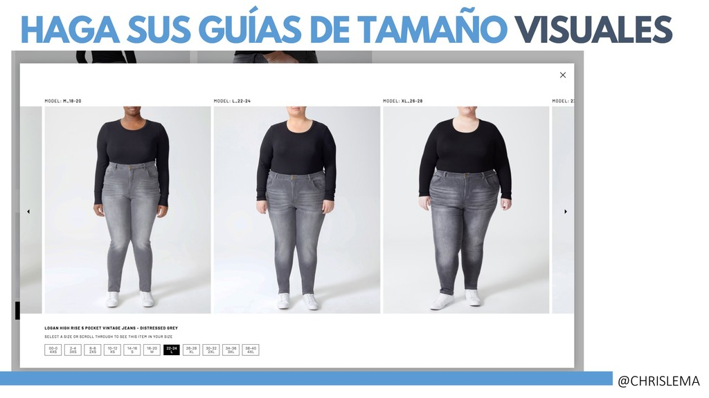 HAGA SUS GUÍAS DE TAMAÑO VISUALES @CHRISLEMA