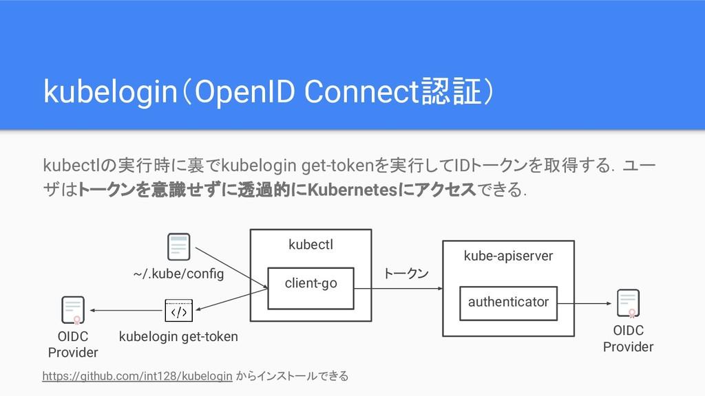 kubelogin(OpenID Connect認証) kubectlの実行時に裏でkubel...