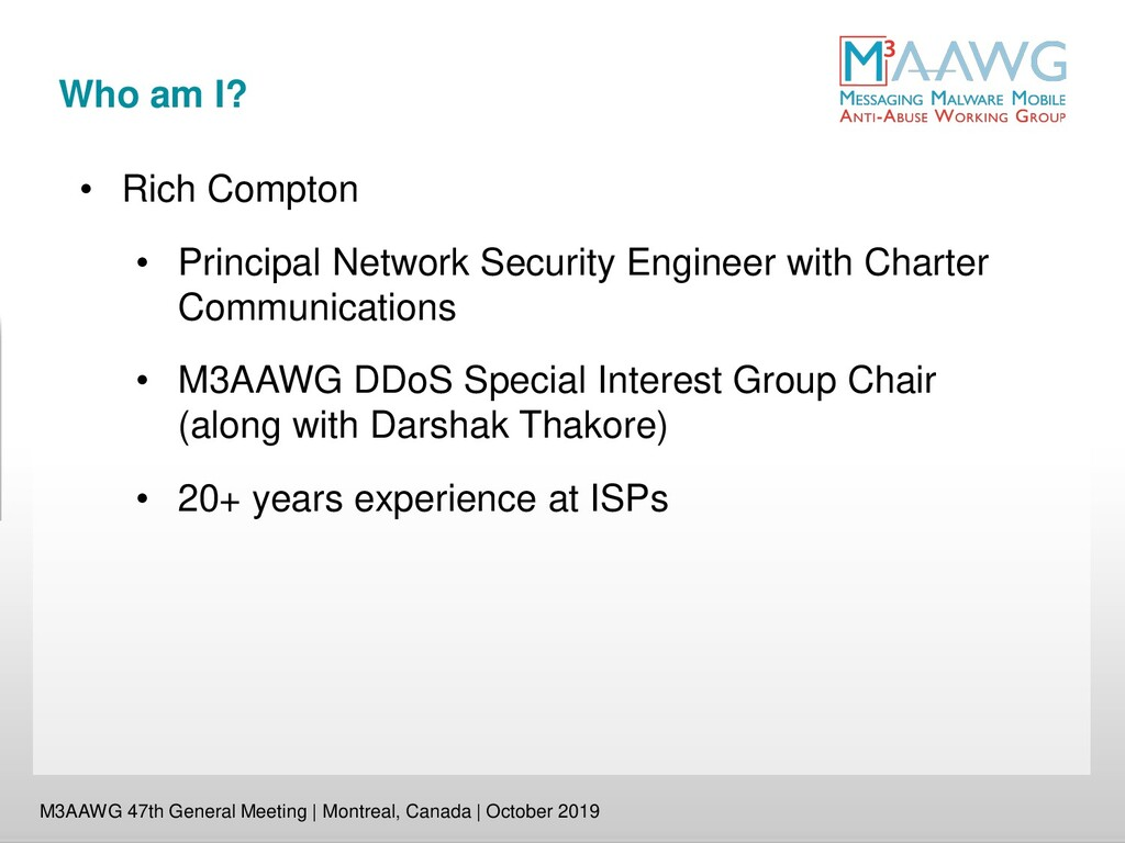 Who am I? M3AAWG 47th General Meeting | Montrea...