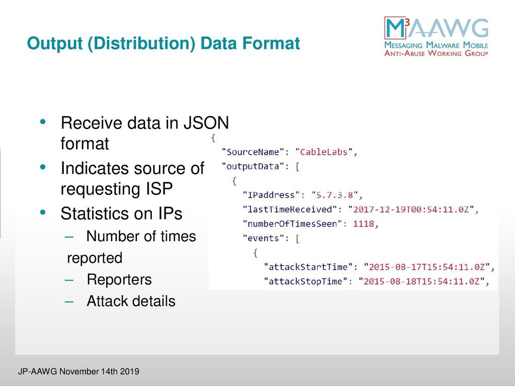 Output (Distribution) Data Format JP-AAWG Novem...