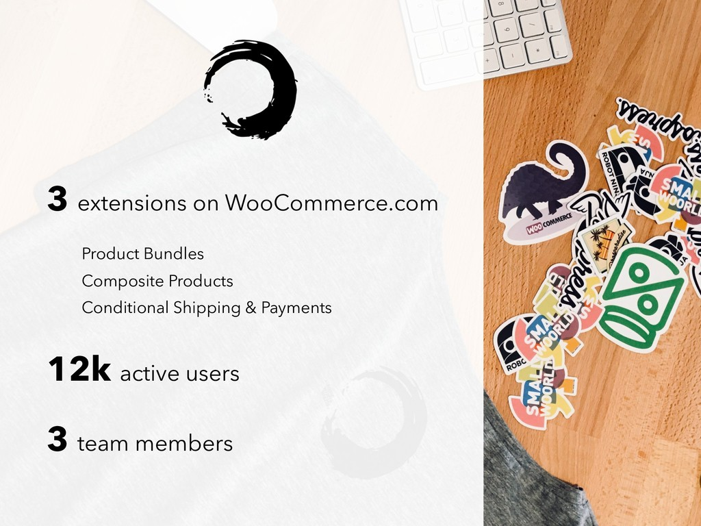 3 extensions on WooCommerce.com 12k active user...