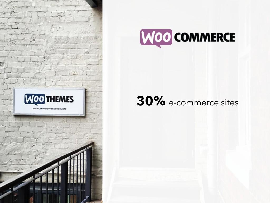 30% e-commerce sites
