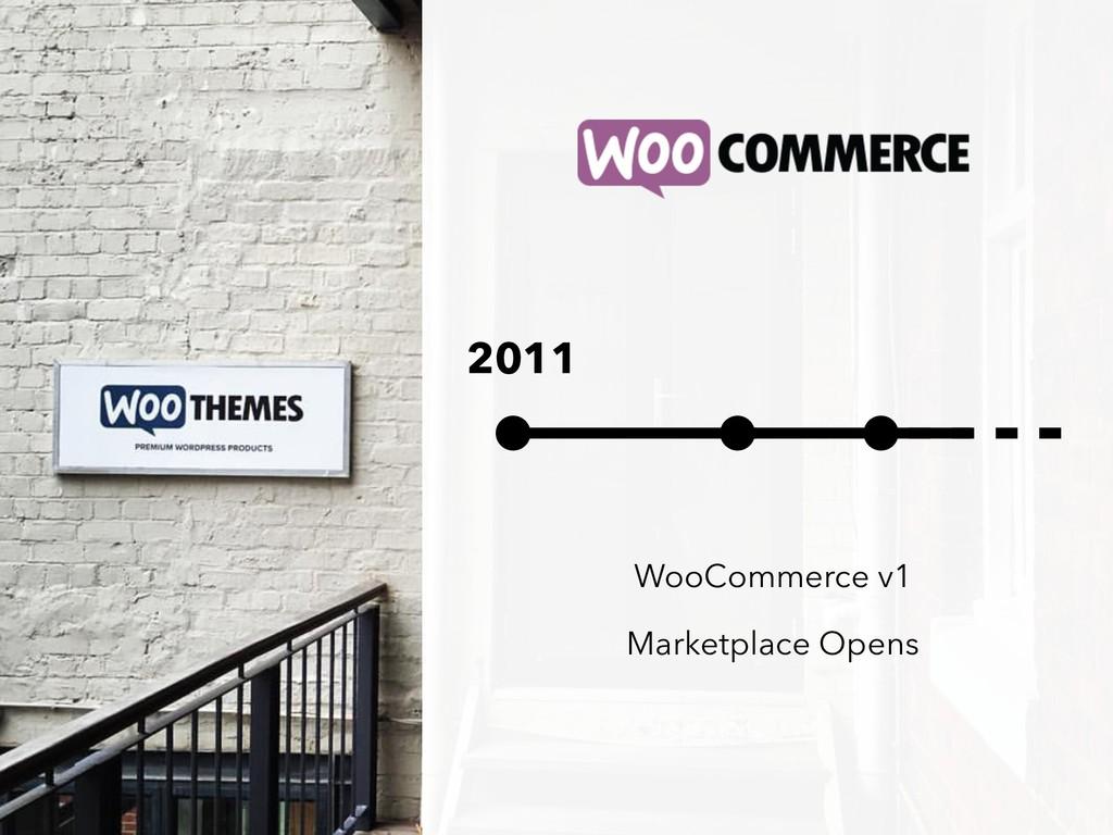2011 WooCommerce v1 Marketplace Opens