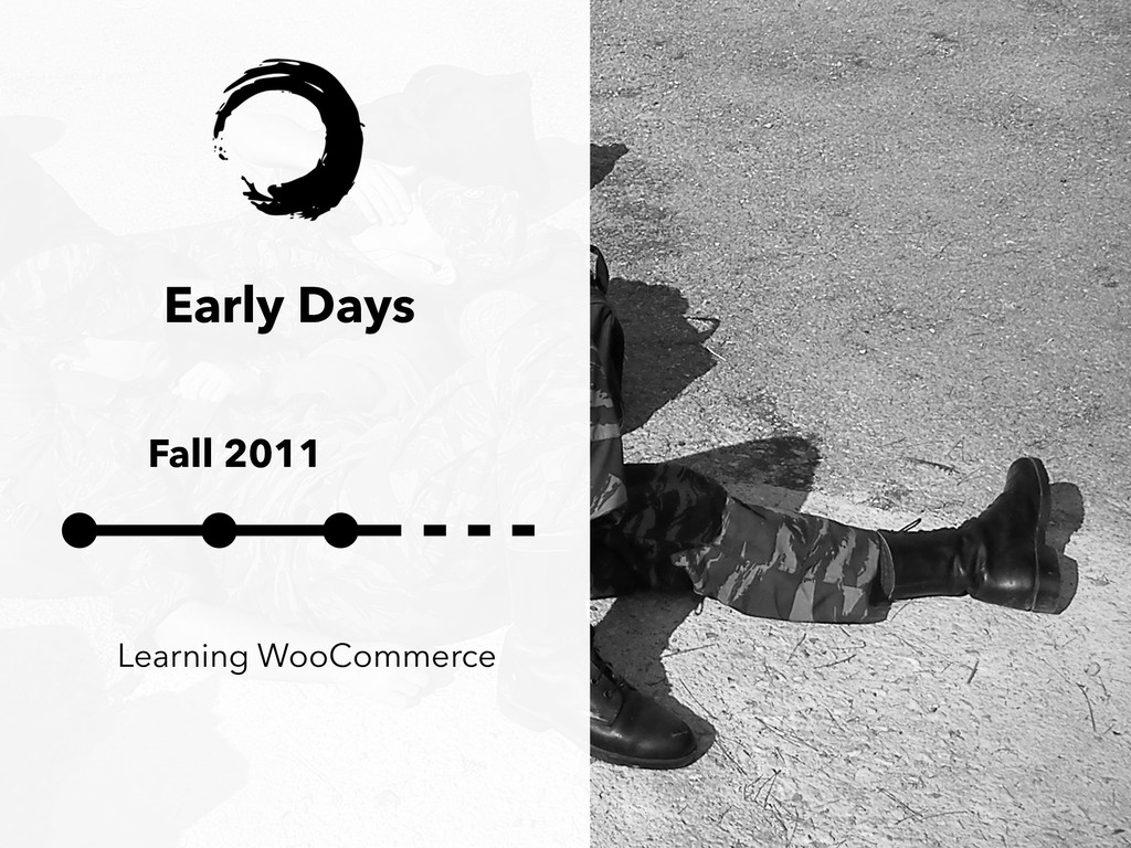 Early Days Fall 2011 Learning WooCommerce