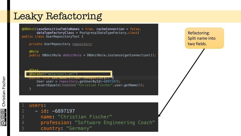 Christian Fischer Leaky Refactoring Refactoring...