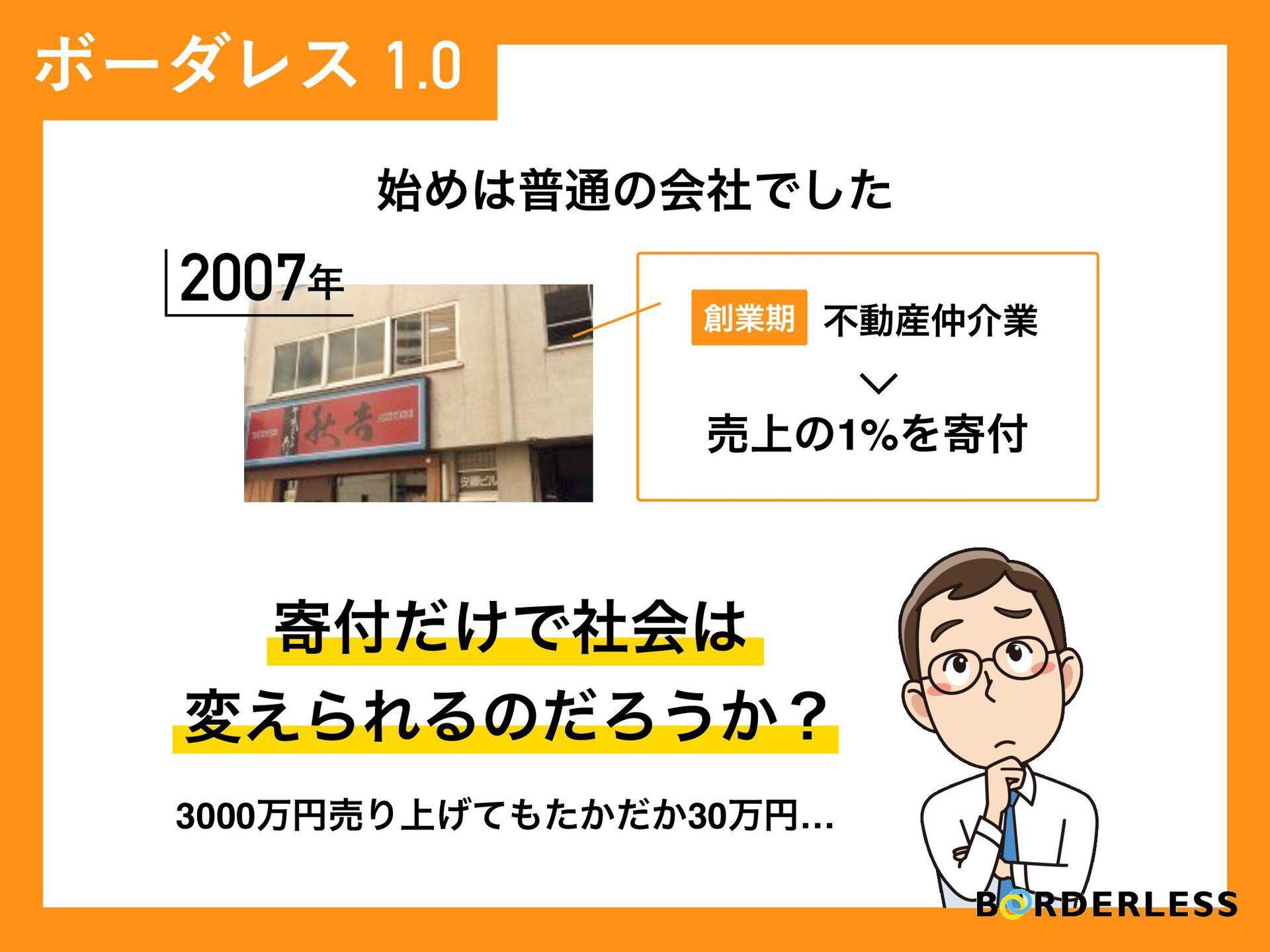 N Ίී௨ͷձࣾͰͨ͠ ϘʔμϨε1.0 2007 د͚ͩͰࣾձ ม͑ΒΕΔͷͩΖ...