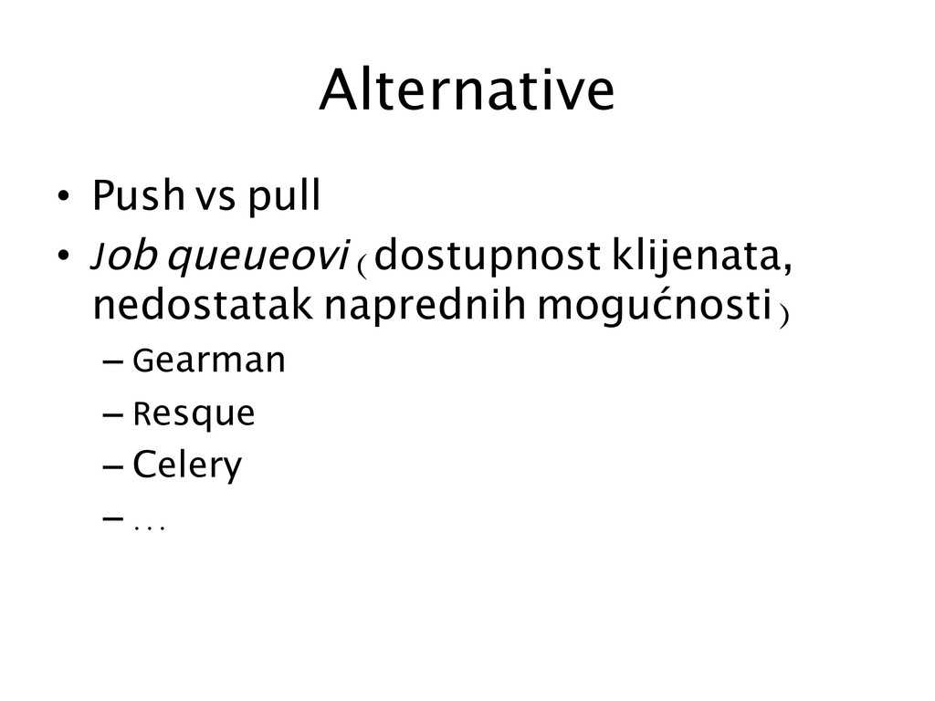 Alternative	