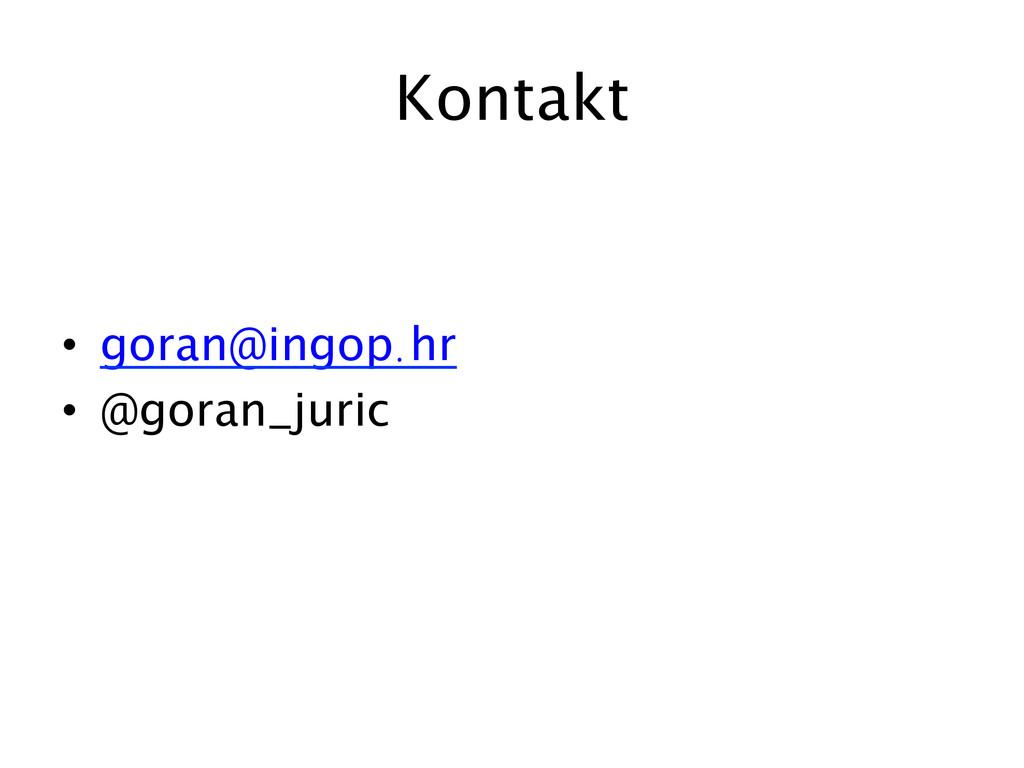 Kontakt  • goran@ingop.hr • @goran_juric...
