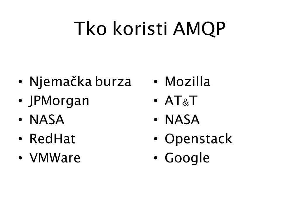 Tko koristi AMQP  • Njemačka burza • JPM...