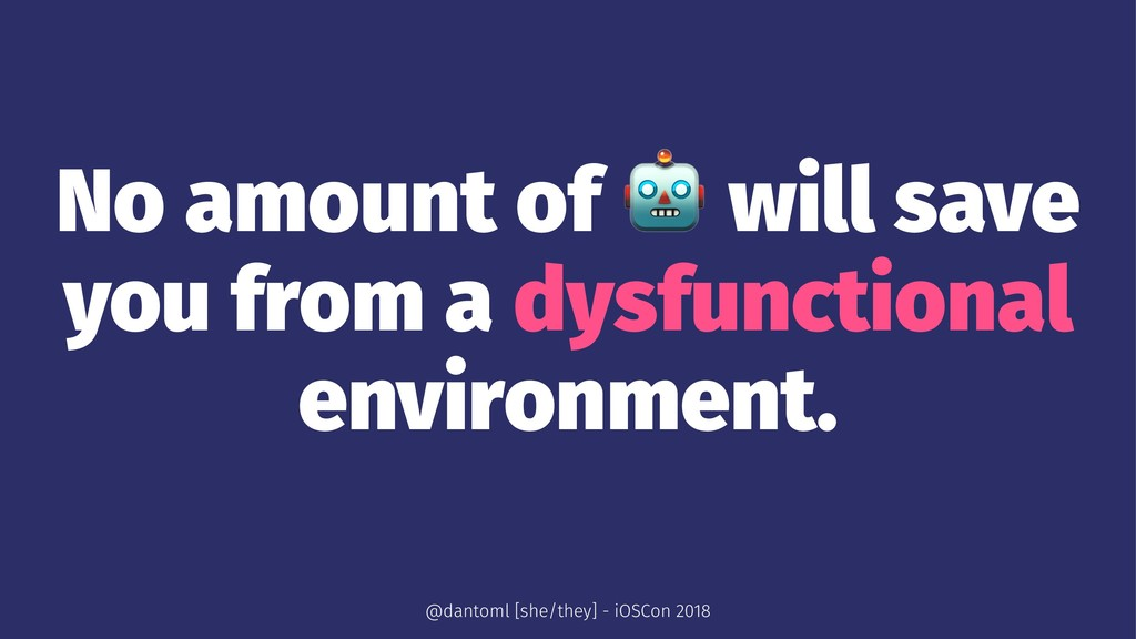 No amount of ! will save you from a dysfunction...