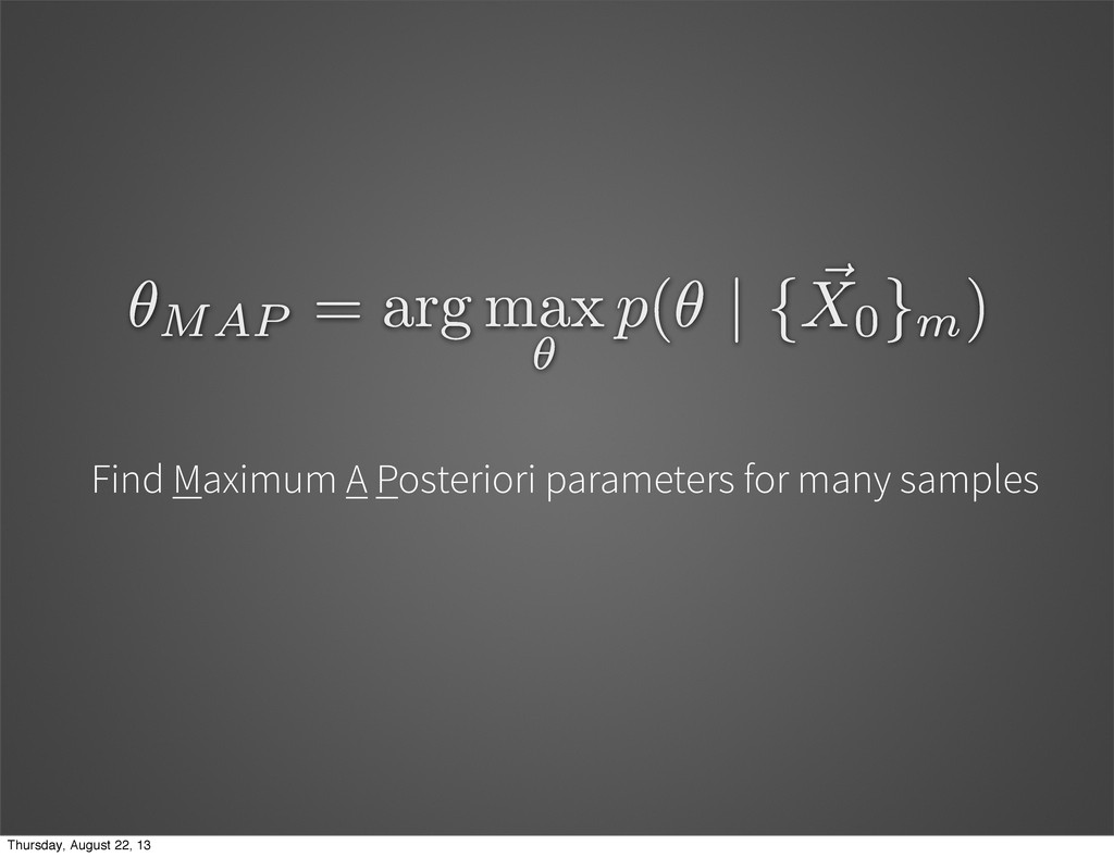 Find Maximum A Posteriori parameters for many s...