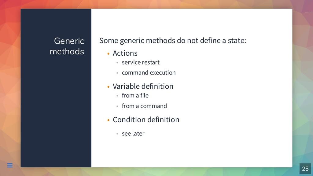 Generic methods Some generic methods do not def...