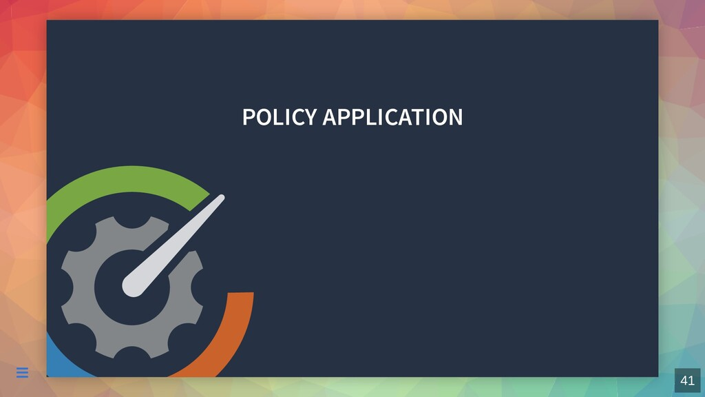 POLICY APPLICATION  41