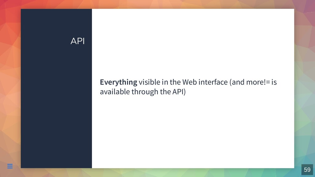 API Everything visible in the Web interface (an...