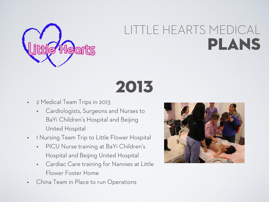 PLANS LITTLE HEARTS MEDICAL 2013 • 2 Medical Te...