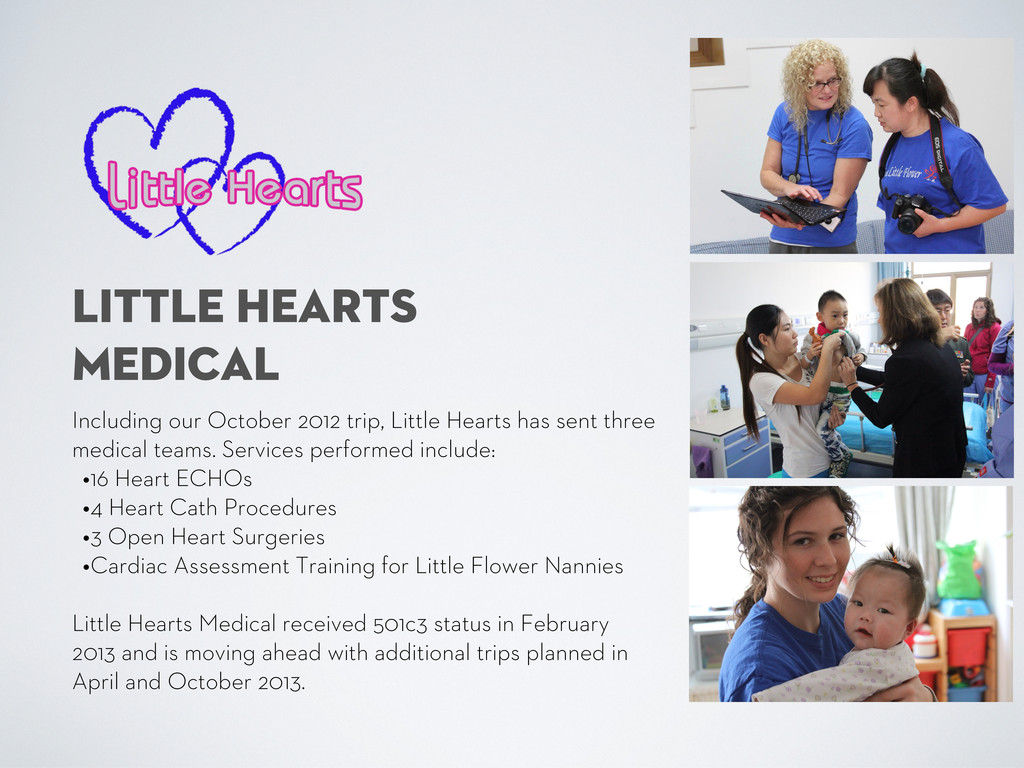 LITTLE HEARTS MEDICAL Including our October 201...