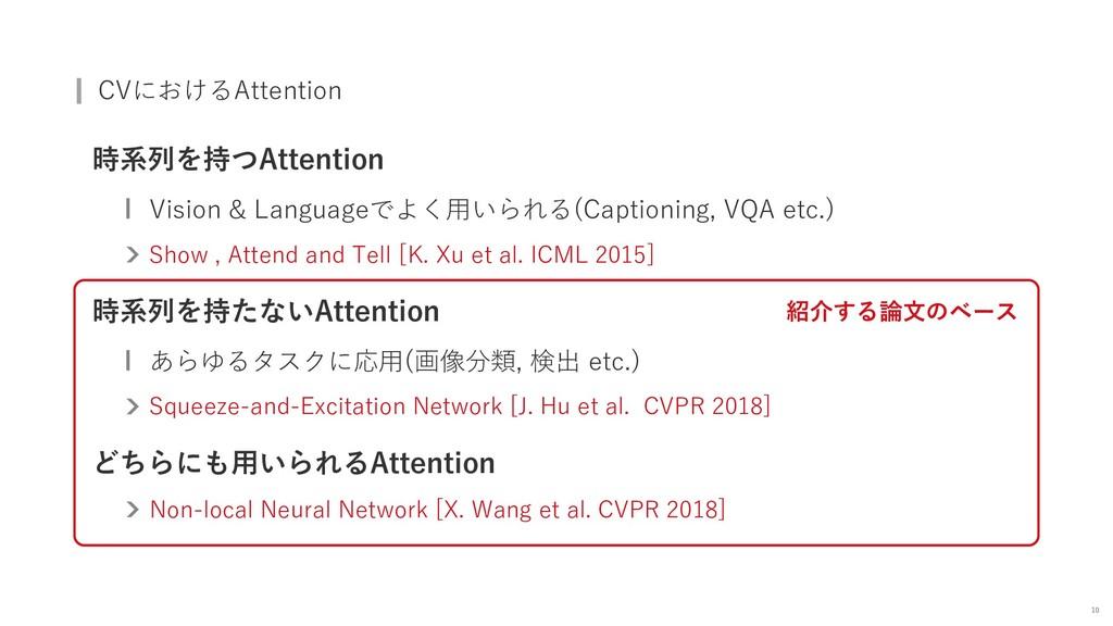 CVにおけるAttention 時系列を持つAttention Vision & Langua...