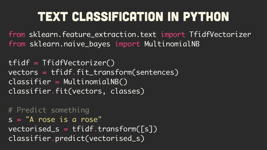 Text Classification in Python from sklearn.feat...