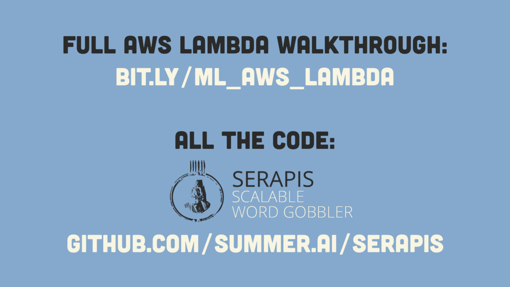 bit.ly/ml_aws_lambda Full AWS Lambda Walkthroug...