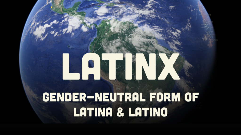 GENDER-NEUTRAL FORM OF