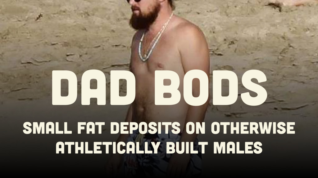 Small Fat deposits on otherwise athletically bu...