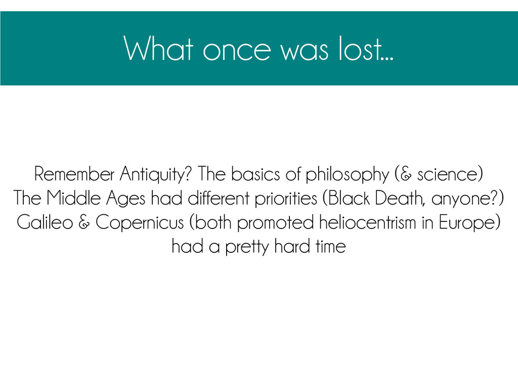 What once was lost... Remember Antiquity? The b...